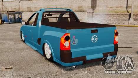 Chevrolet Montana FIXA para GTA 4 traseira esquerda vista