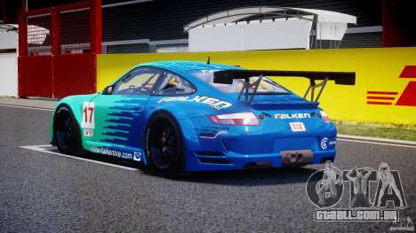 Porsche GT3 RSR 2008 para GTA 4 traseira esquerda vista