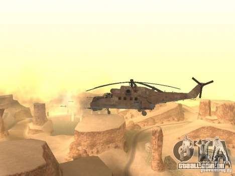 Mi-24p Desert Camo para GTA San Andreas vista traseira