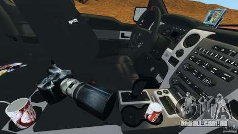 Ford F-150 SVT Raptor para GTA 4 interior