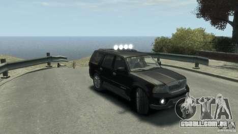 Lincoln Navigator para GTA 4 vista direita