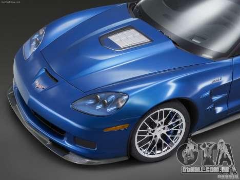Carregamento telas Chevrolet Corvette para GTA San Andreas sexta tela