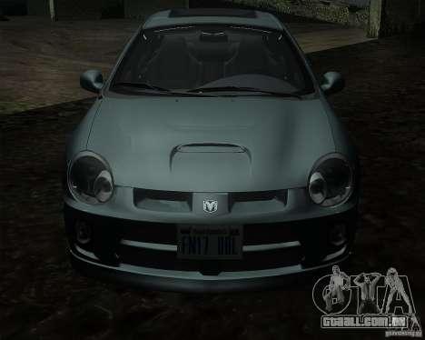 Dodge Neon para GTA San Andreas esquerda vista