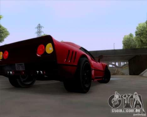 Ferrari 288 GTO para GTA San Andreas vista traseira
