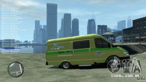 Serviços de transporte de gazela 2705 para GTA 4 vista direita