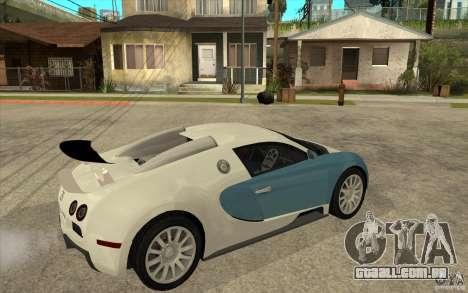 Bugatti Veyron Final para GTA San Andreas vista direita