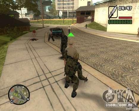 Agrupando os tormentos da liberdade para GTA San Andreas terceira tela