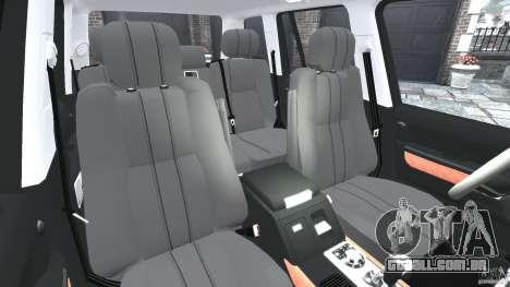 Range Rover Supercharged 2008 para GTA 4 vista interior