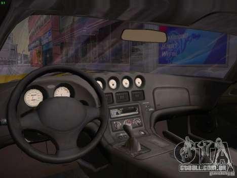 Dodge Viper 1996 para GTA San Andreas vista interior