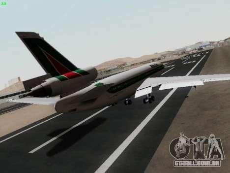 McDonell Douglas DC-10-30 Alitalia para GTA San Andreas traseira esquerda vista