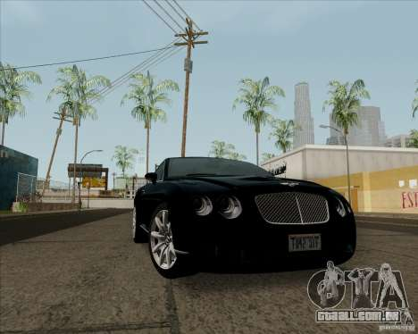 Bentley Continental GT V1.0 para GTA San Andreas esquerda vista