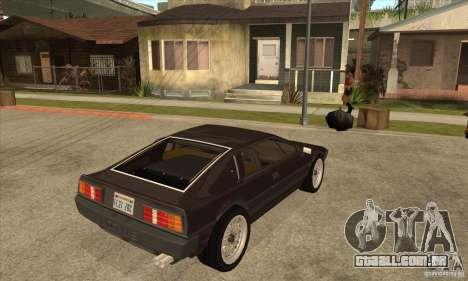 Lotus Esprit S3 para GTA San Andreas vista direita