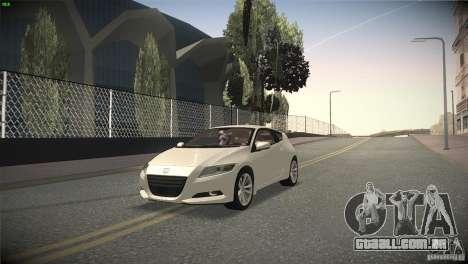Honda CR-Z 2010 V1.0 para vista lateral GTA San Andreas