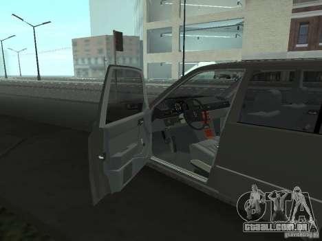 Mercedes-Benz 250D para GTA San Andreas vista interior