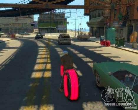 Motocicleta do trono (néon vermelho) para GTA 4 esquerda vista