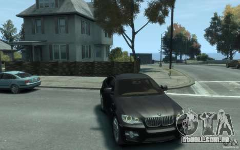 BMW X6 para GTA 4 vista de volta