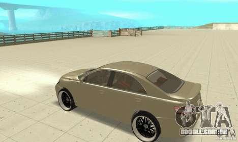 Toyota Camry Tuning 2010 para GTA San Andreas vista traseira