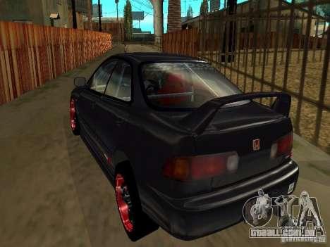 Honda Integra TypeR para vista lateral GTA San Andreas