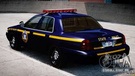 Ford Crown Victoria New York State Patrol [ELS] para GTA 4 vista direita