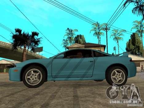 Mitsubishi Eclipse 1998 Need For Speed Carbon para GTA San Andreas esquerda vista