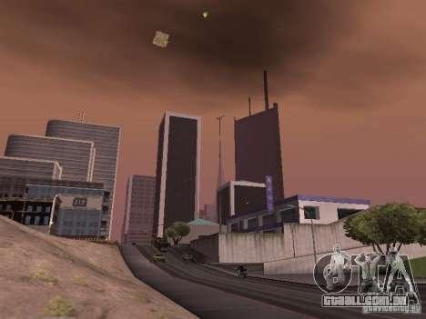 Weather manager para GTA San Andreas por diante tela