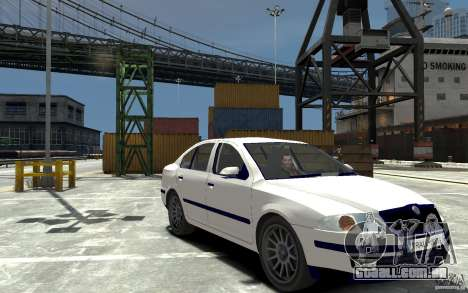 Skoda Octavia II 2005 para GTA 4 vista de volta
