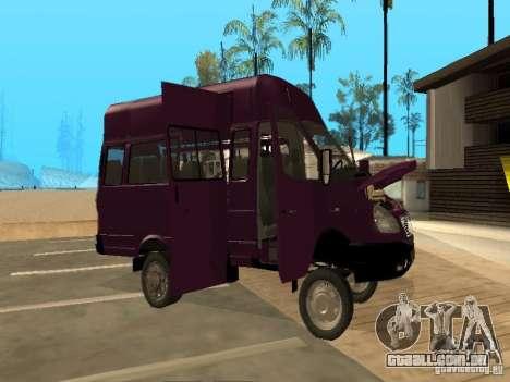 Táxi de gazela 32213 para GTA San Andreas vista interior