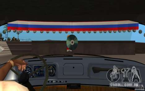 ZIL 130 rádio Butka para GTA San Andreas vista interior