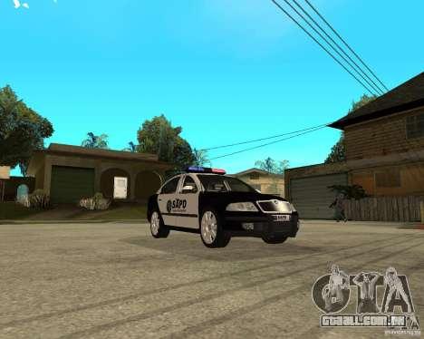 Skoda Octavia II 2005 SAPD POLICE para GTA San Andreas vista traseira