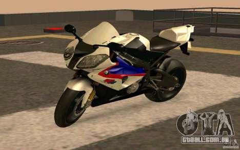 BMW S1000RR City Version para GTA San Andreas traseira esquerda vista