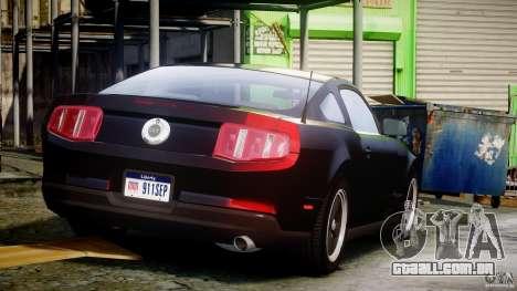 Ford Mustang V6 2010 Chrome v1.0 para GTA 4 vista superior