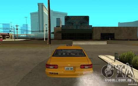 Chevrolet Caprice taxi para GTA San Andreas vista direita