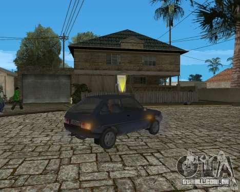 ZAZ Tavria 1102 para GTA San Andreas traseira esquerda vista