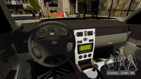 VAZ-2170 para GTA 4 vista de volta