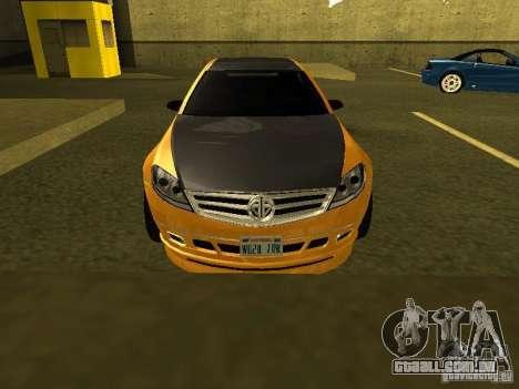 GTAIV Schafter Modded para GTA San Andreas vista interior