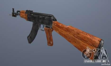 AK 47 com baioneta para GTA San Andreas terceira tela