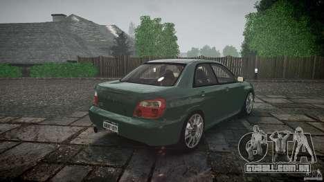 Subaru Impreza v2 para GTA 4 vista inferior