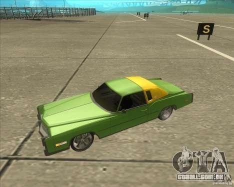 Cadillac Eldorado para GTA San Andreas interior