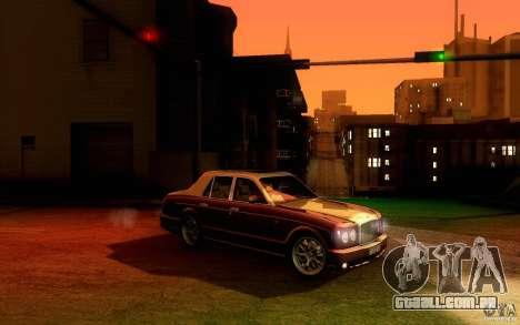 Bentley Arnage R 2005 para GTA San Andreas vista traseira