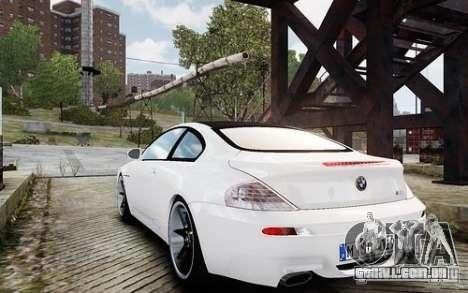 BMW M6 Coupe E63 2010 para GTA 4 traseira esquerda vista