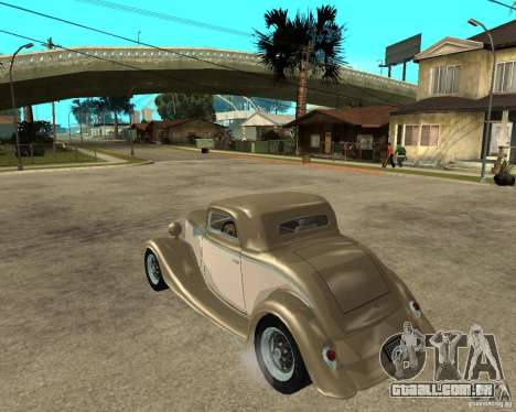 Ford 1934 Coupe v2 para GTA San Andreas esquerda vista