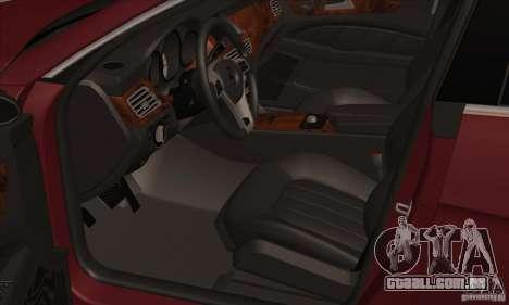 Mercedes-Benz CLS63 AMG 2012 para GTA San Andreas vista traseira