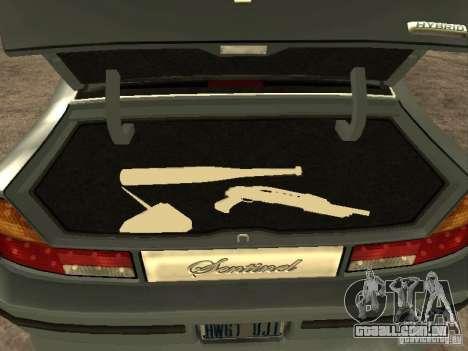 HD Mafia Sentinel para GTA San Andreas vista traseira