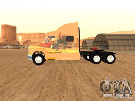 Peterbilt 387 pele 3 para GTA San Andreas traseira esquerda vista