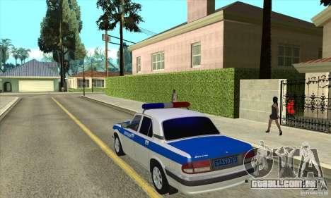 GAZ 31105 Volga DPS para GTA San Andreas traseira esquerda vista