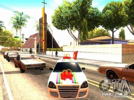 LADA 2170 casamento para GTA San Andreas vista direita