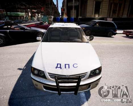 Russian Police Patrol para GTA 4 vista direita