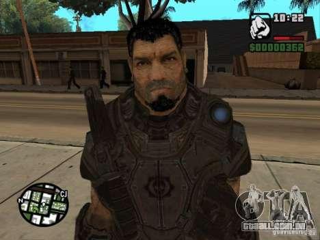Dominic Santiago de Gears of War 2 para GTA San Andreas por diante tela