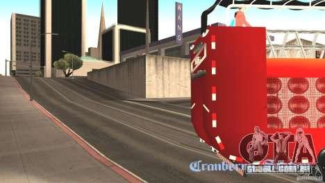 Scania 93H 6x2 Trio Eletrico para GTA San Andreas traseira esquerda vista