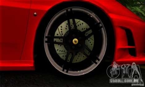 Ferrari F430 Novitec Rosso para GTA San Andreas vista traseira